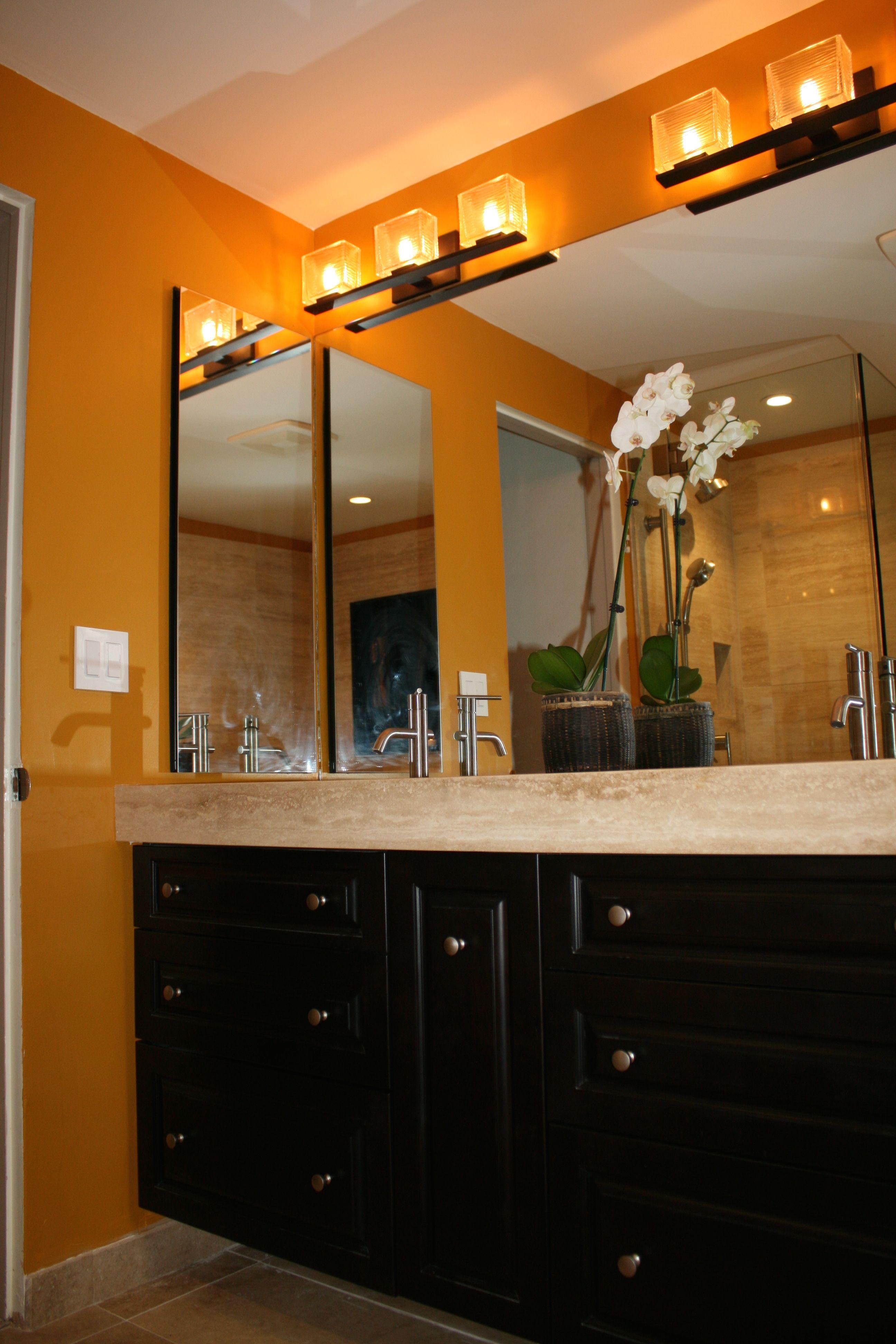 African Inspired Bath Lighted Bathroom Mirror Bathroom Mirror Bathroom Lighting African inspired bathroom decor