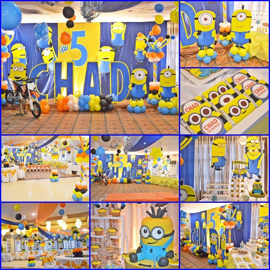 Minions theme Birthday Party Minions Birthday Theme Pinterest