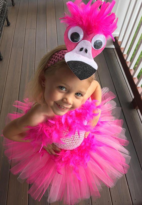 Pink+Flamingo+Tutu+Costume,+Pink+Bird+Tutu+Costume,+Pink+Feather+ - halloween costume ideas for infants