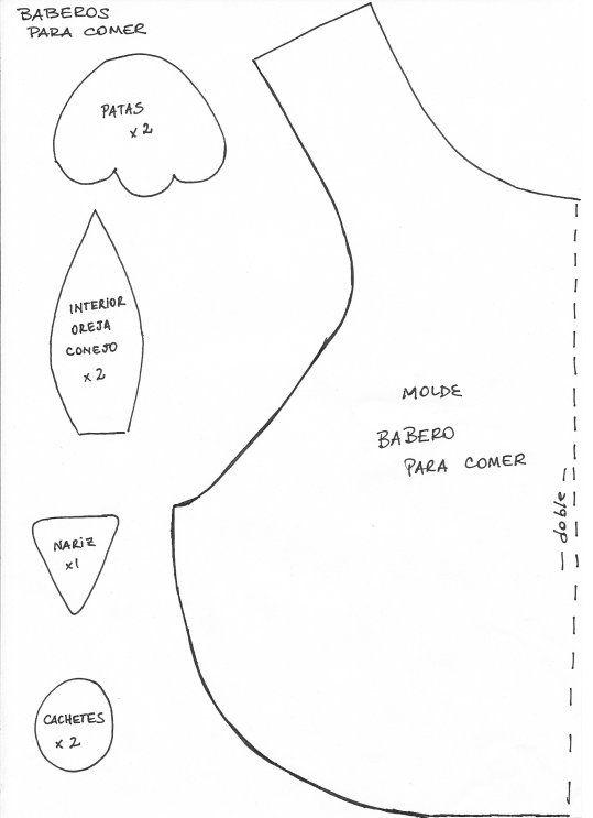Moldes para baberos de bebé - Imagui | Manualidades | Pinterest ...