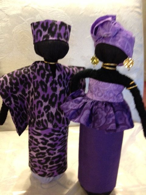 Handmade African Couple Doll by ILOVETORECYCLE on Etsy,