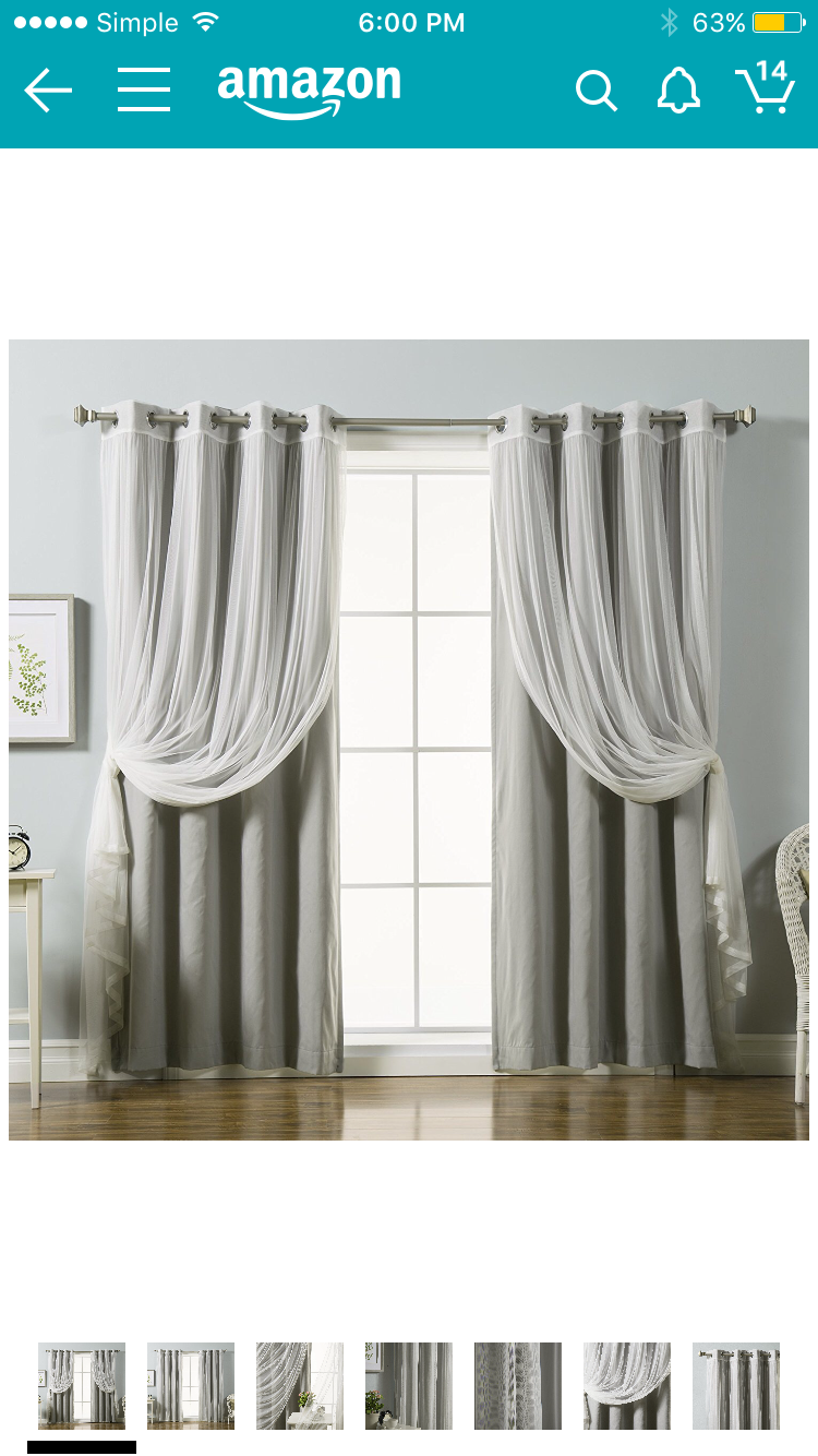 Gardinen Stores Amazon Curtains Like This Not This Color For Closet Heather And
