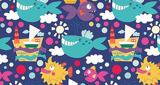 Sea Pattern | Pattern Download | The Design Inspiration