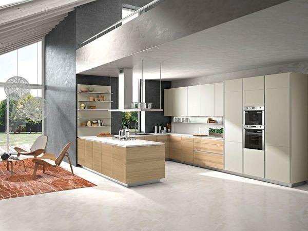 Küchen aus italien  Moderne italienische Küche orange holz einrichtung | Küche ...