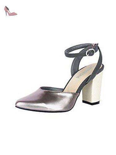 Pompes Escarpins en Optique laque de Andrea Conti - argent, Femme, 38 EU - Chaussures andrea conti (*Partner-Link)