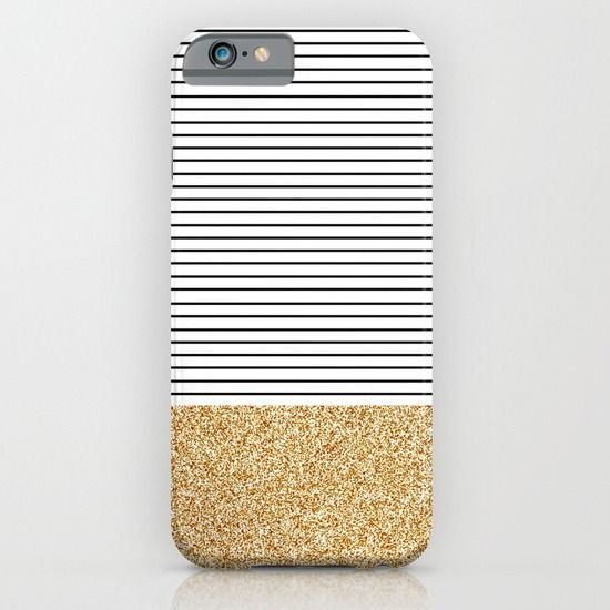 Buy Minimal Gold Glitter Stripes iPhone & iPod Case by Allyson Johnson. Worldwide shipping available at Society6.com. Just one of millions of high quality products available.