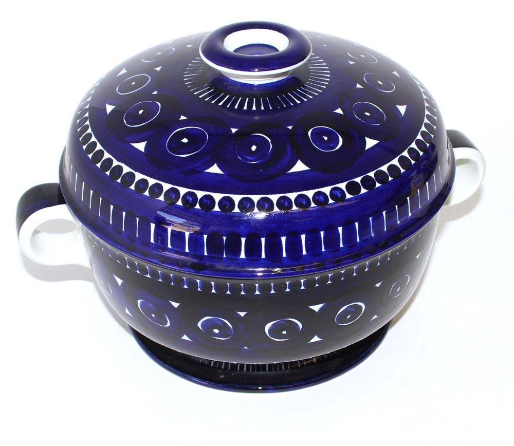 Arabia China \u0026 Dinnerware | eBay  sc 1 st  Pinterest & Arabia Finland Valencia Blue Hand Painted Large Soup Tureen - Arabia ...