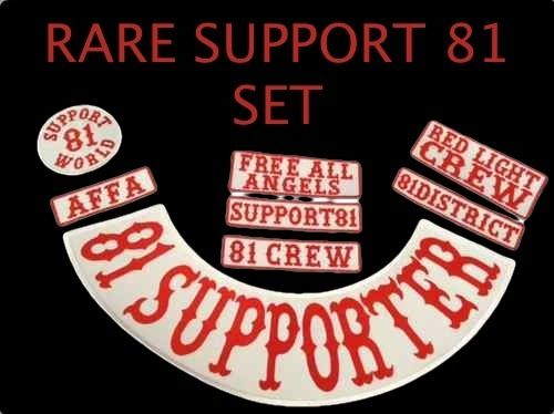Details about RARE SET Hells Support 81 Rocker Patch 81 Supporter