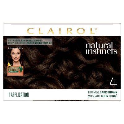 Natural Instincts Clairol Demi Permanent Hair Color 4 Dark Brown Nutmeg 1 Kit Clairol Natural Instincts Non Permanent Hair Color Permanent Hair Color