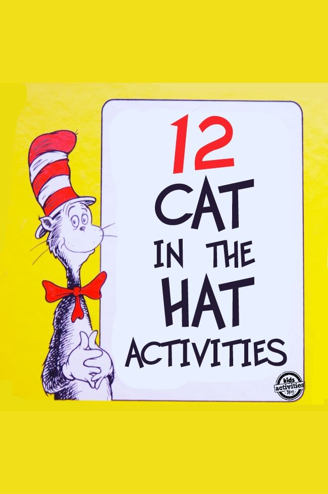 12 Dr. Seuss Cat in the Hat Crafts and Activities for Kids - Kids Activities Blog