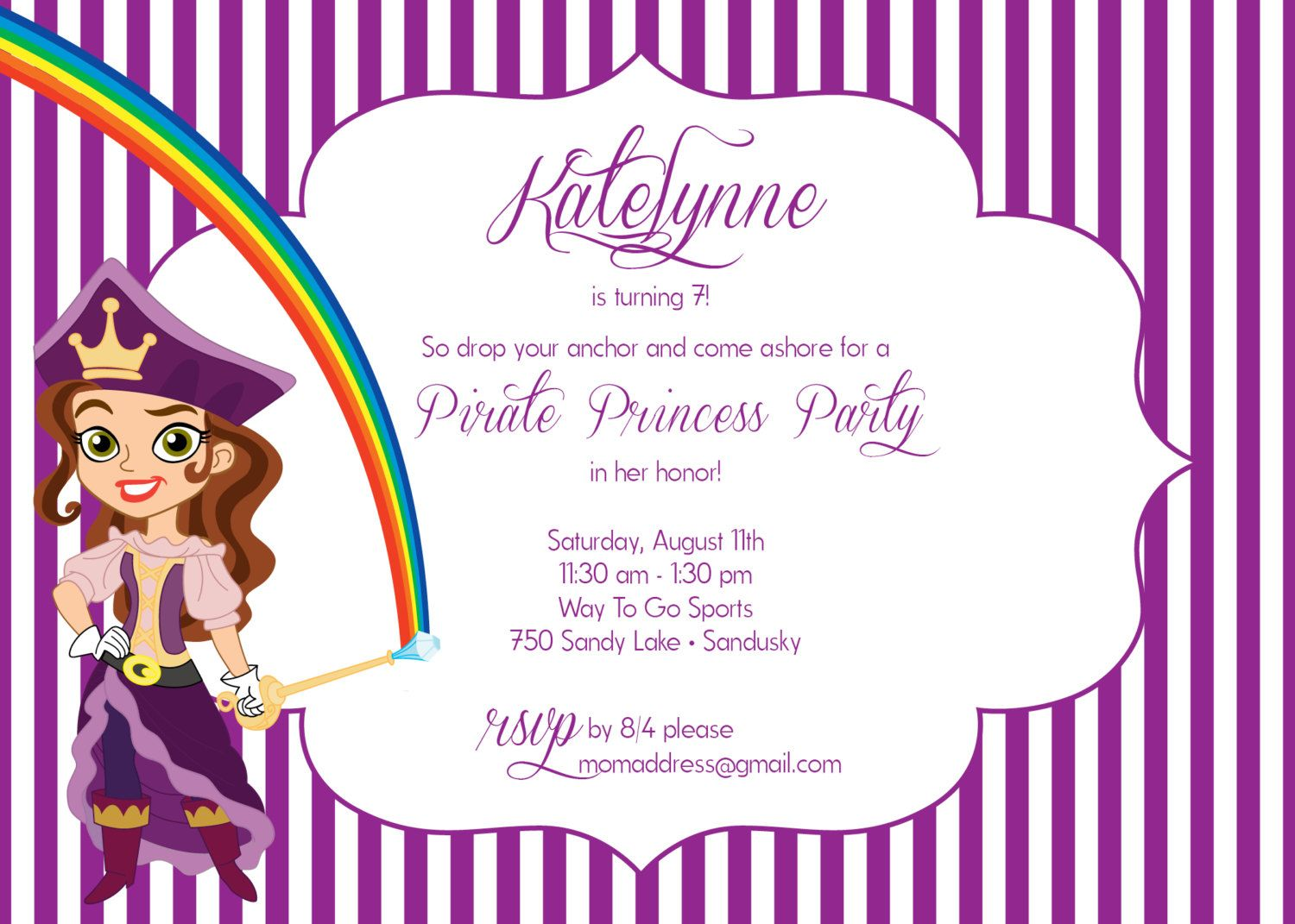 Custom printable 5x7 jake and the neverland pirates pirate custom printable 5x7 jake and the neverland pirates pirate princess birthday party invitation filmwisefo Image collections