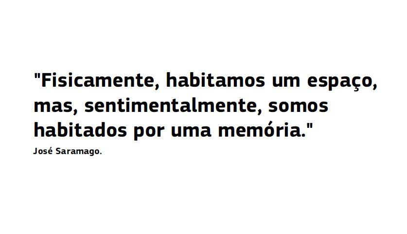 O espaço da memória ou a memória do espaço...