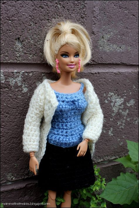 Complete outfit for barbie. Free crochet pattern. | Babaruha ...