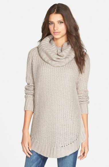 3d910d3e85 Dreamers by Debut Cowl Neck Sweater. Cozy up in an oversized cowl-neck  sweater styled with a chunky-knit construction and drapey fit.