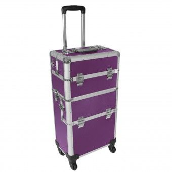 aluminium reisetrolley reisekoffer 60 l koffer beautycase 2 r der farbwahl alles purple. Black Bedroom Furniture Sets. Home Design Ideas