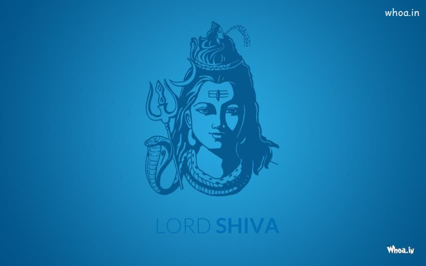 Har Har Mahadev Shiva Wallpapers And Backgrounds: Lord Shiva Face With Blue Background HD Wallpaper