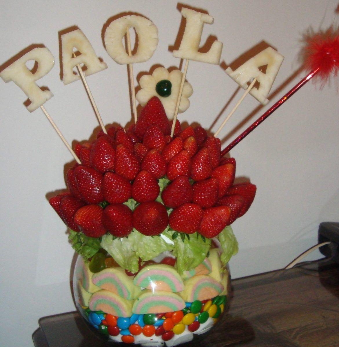 Arreglos de entros de mesas con flores arreglos frutales for Centros de frutas