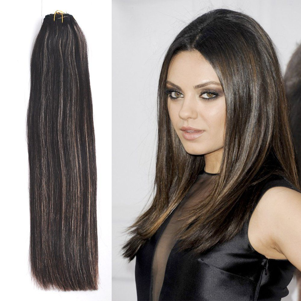 Mike Mary Colored Remy Human Hair Extensions 18 1 Bundle 100g