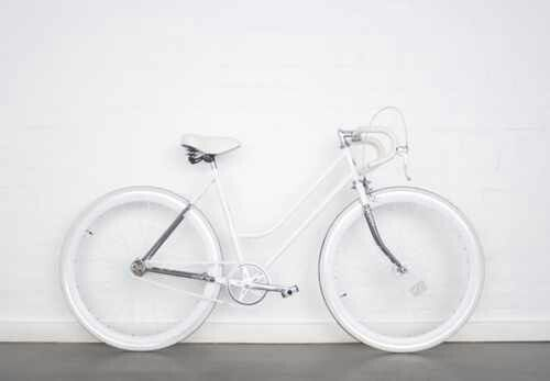 white on white. #bicycleart