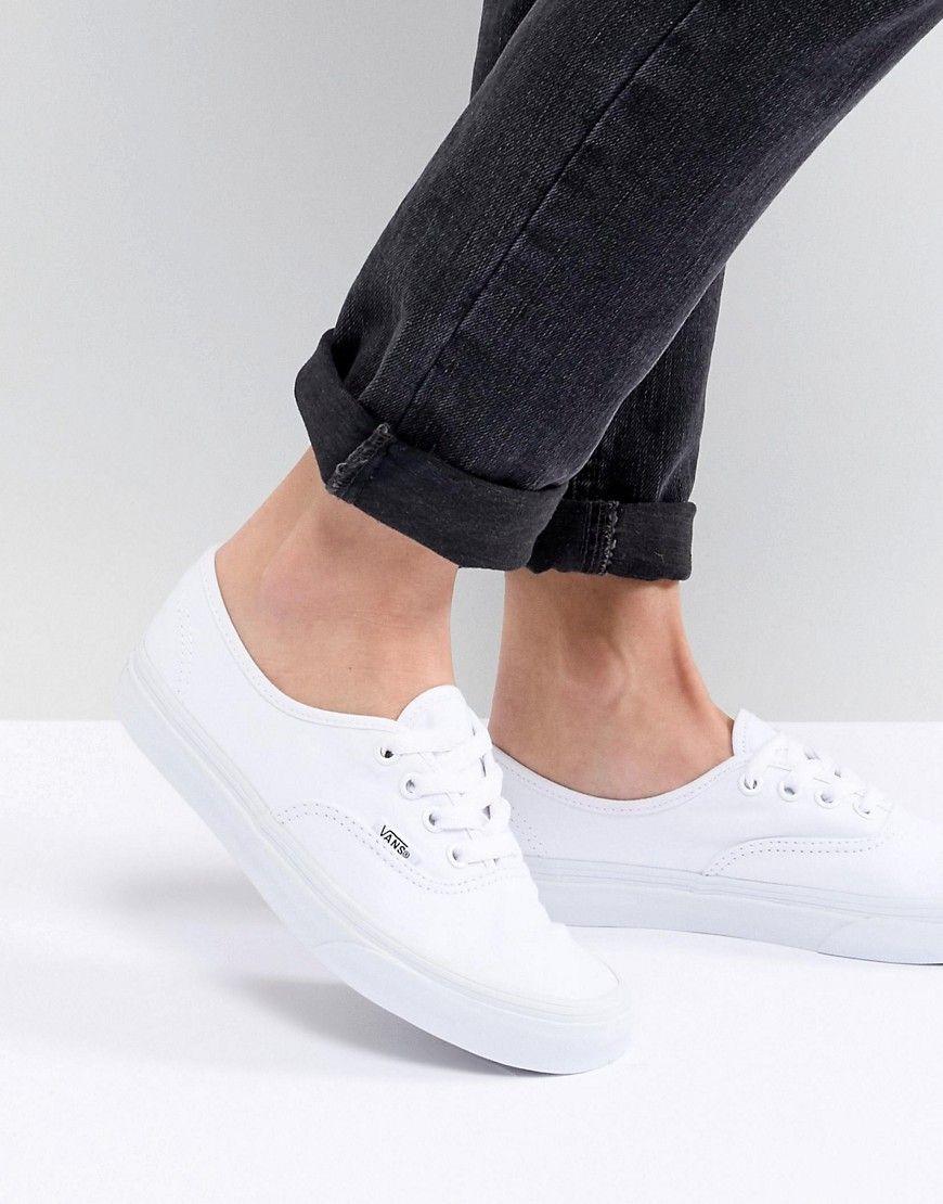 VANS VANS CLASSIC AUTHENTIC TRIPLE WHITE SNEAKERS. #vans #shoes ...