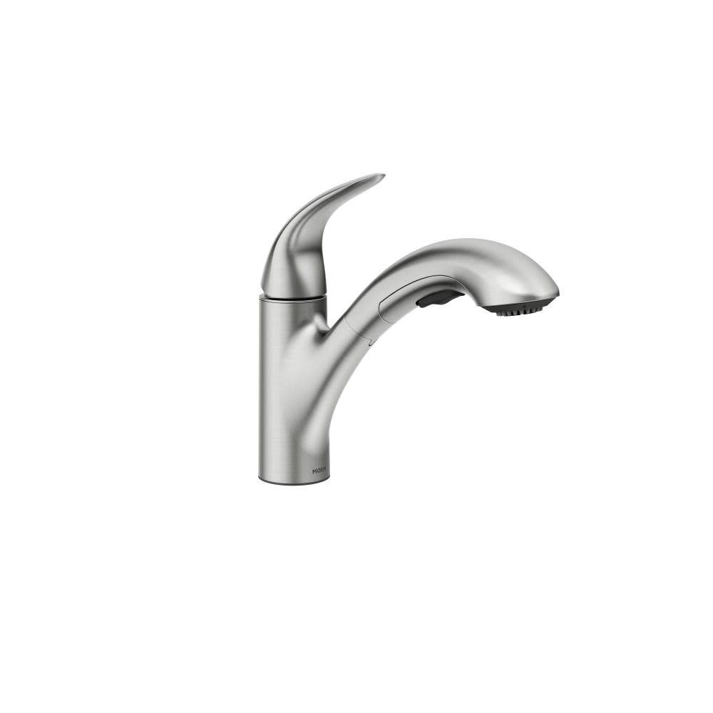 Moen 87039 Single Handle Kitchen Faucet With Pullout Spray From