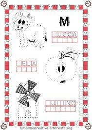 Disegniamo l 39 alfabeto lamammacreativa motricita 39 fine pregrafismo grafismi lettere - Letto scrittura schede ...