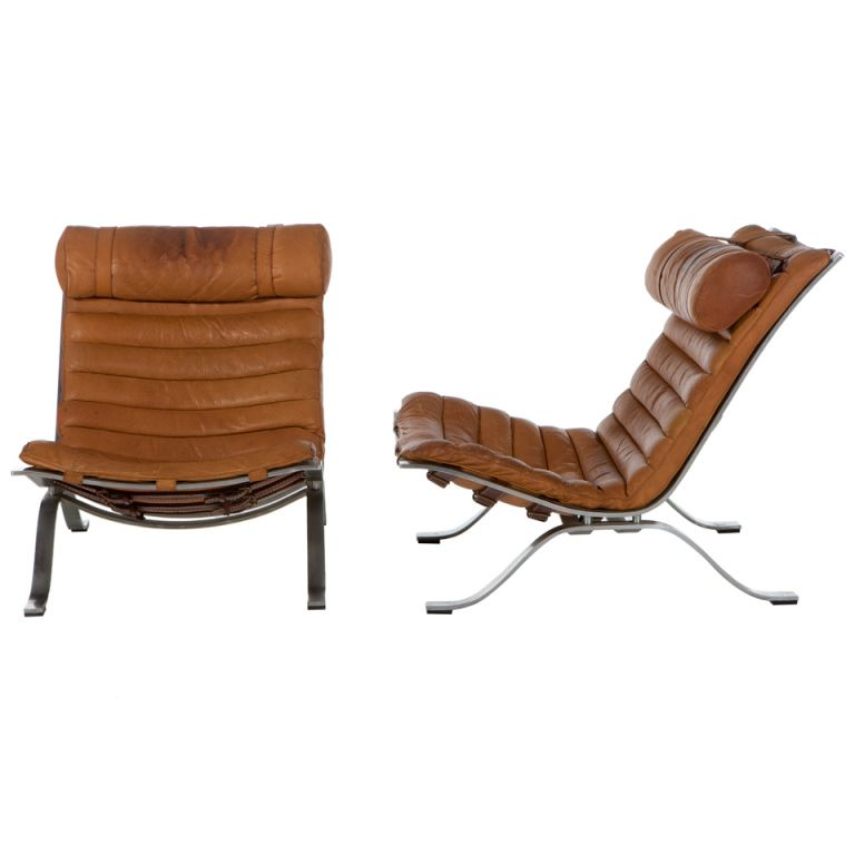 "1stdibs | Pair of Arne Norell "" ARI"" Lounge Chairs"