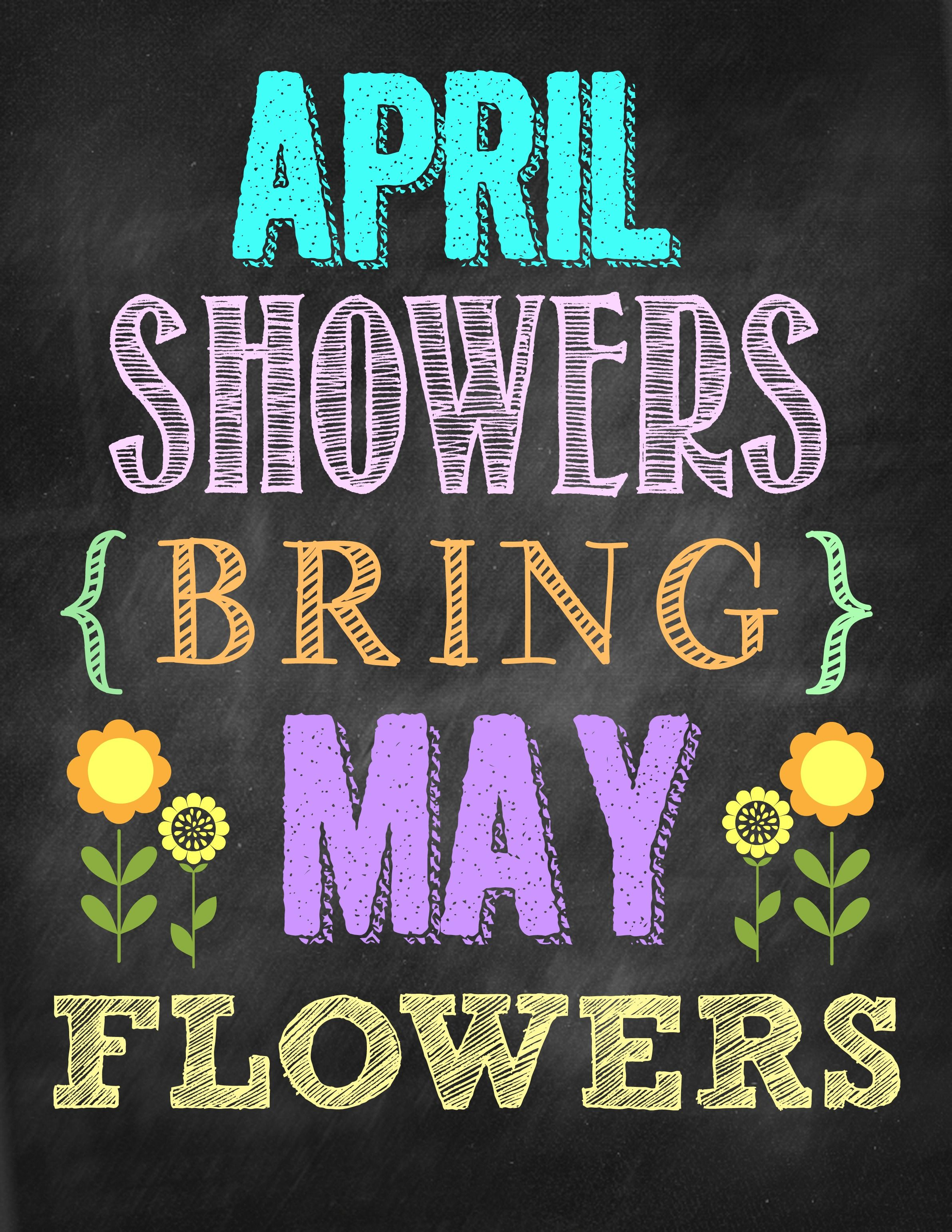 Download April Showers Bring May Flowers / Svg Png Dxf Crafter Files