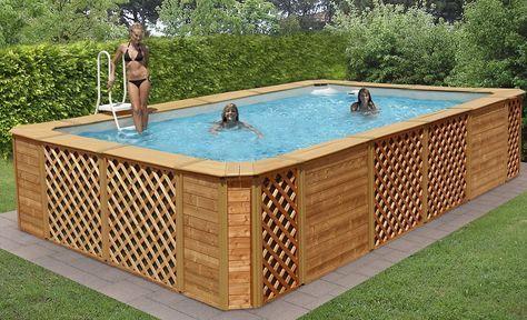 Rivestimento Piscina Fuori Terra | Hot Tubs | Pinterest | Ground ...