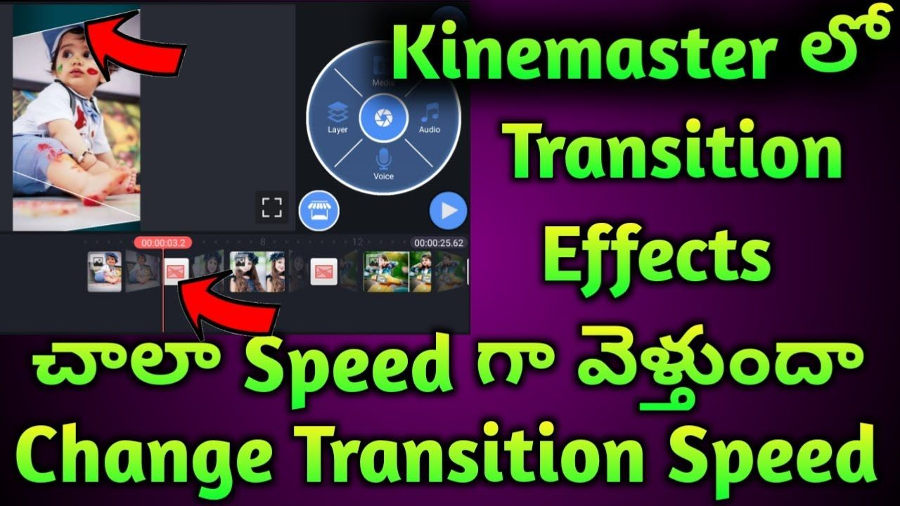 How To Change Kinemaster Transition Effect Speed Change Transition Speed Transitional Speed Change
