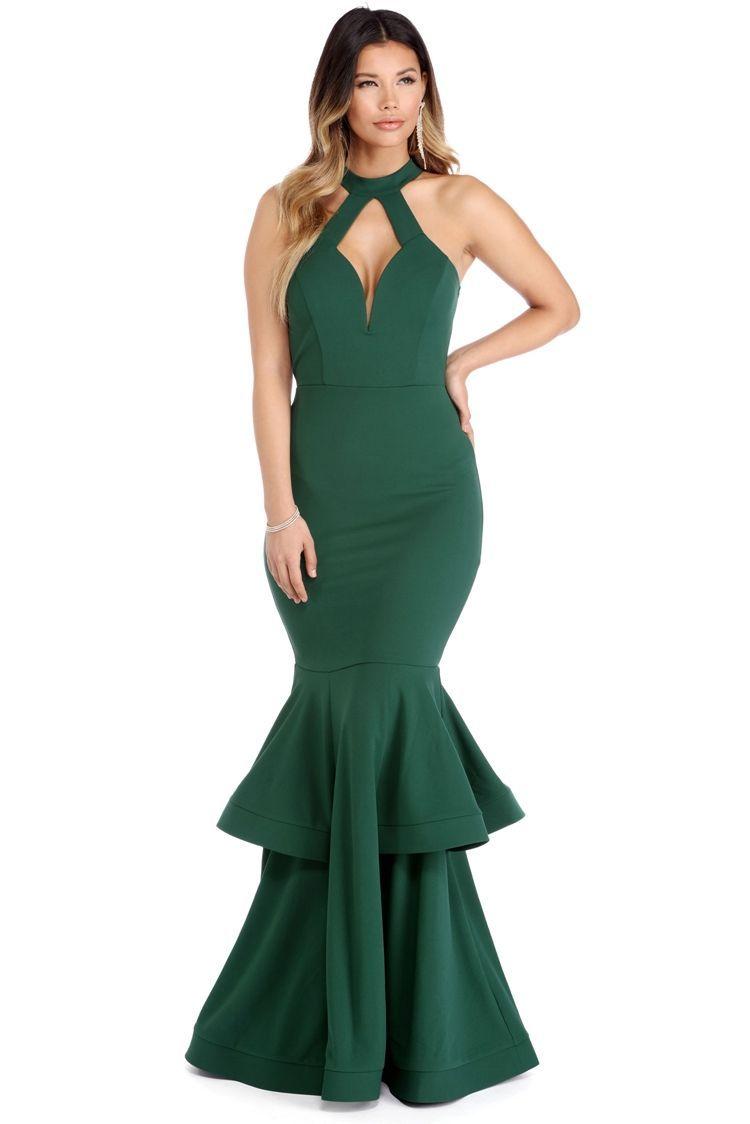 ec76f196fb1 Macey Emerald Ruffled Gown. Macey Emerald Ruffled Gown Perfect Prom Dress