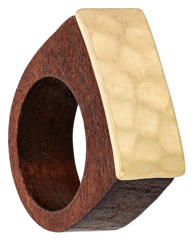 Ring Golden Wood Gold farbe, Bijou und Ringe
