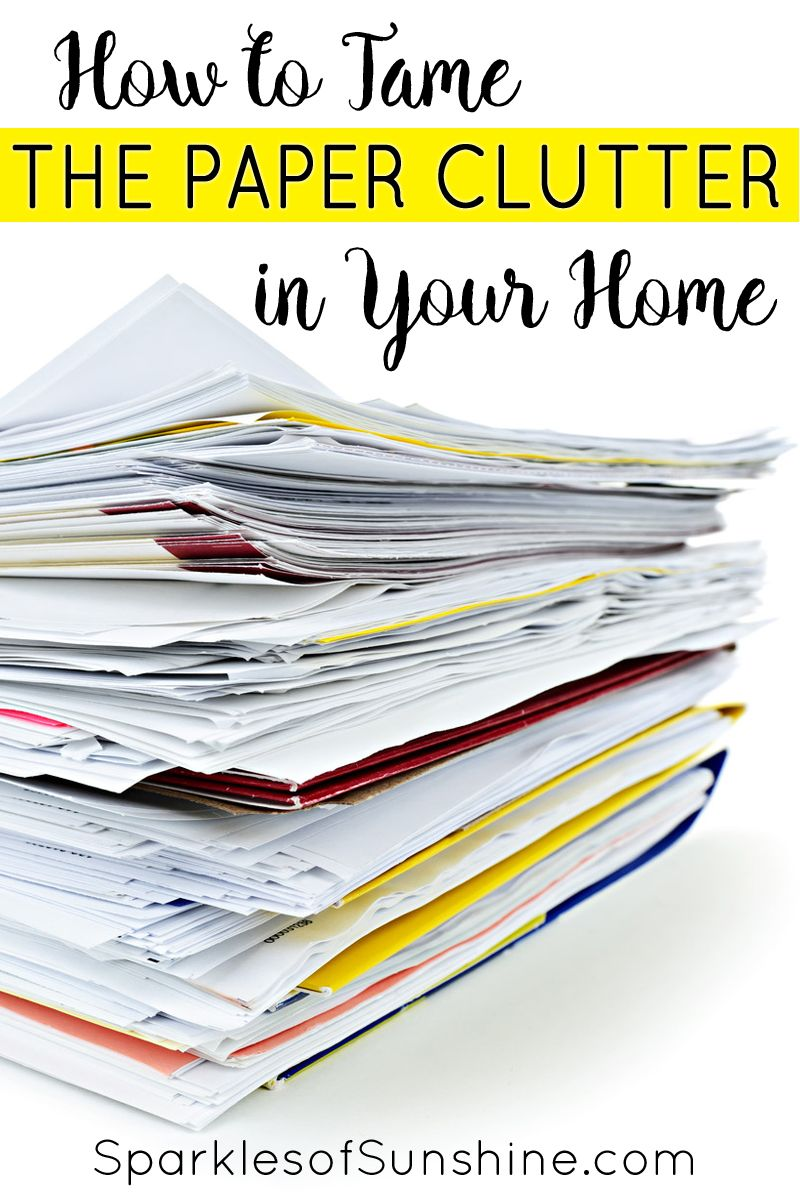 How to Tame the Paper Clutter in Your Home is part of Organization Work Paper Clutter - Struggling to get your household paper clutter under control  Check out these simple tips that will help you tame the paper clutter in your home today