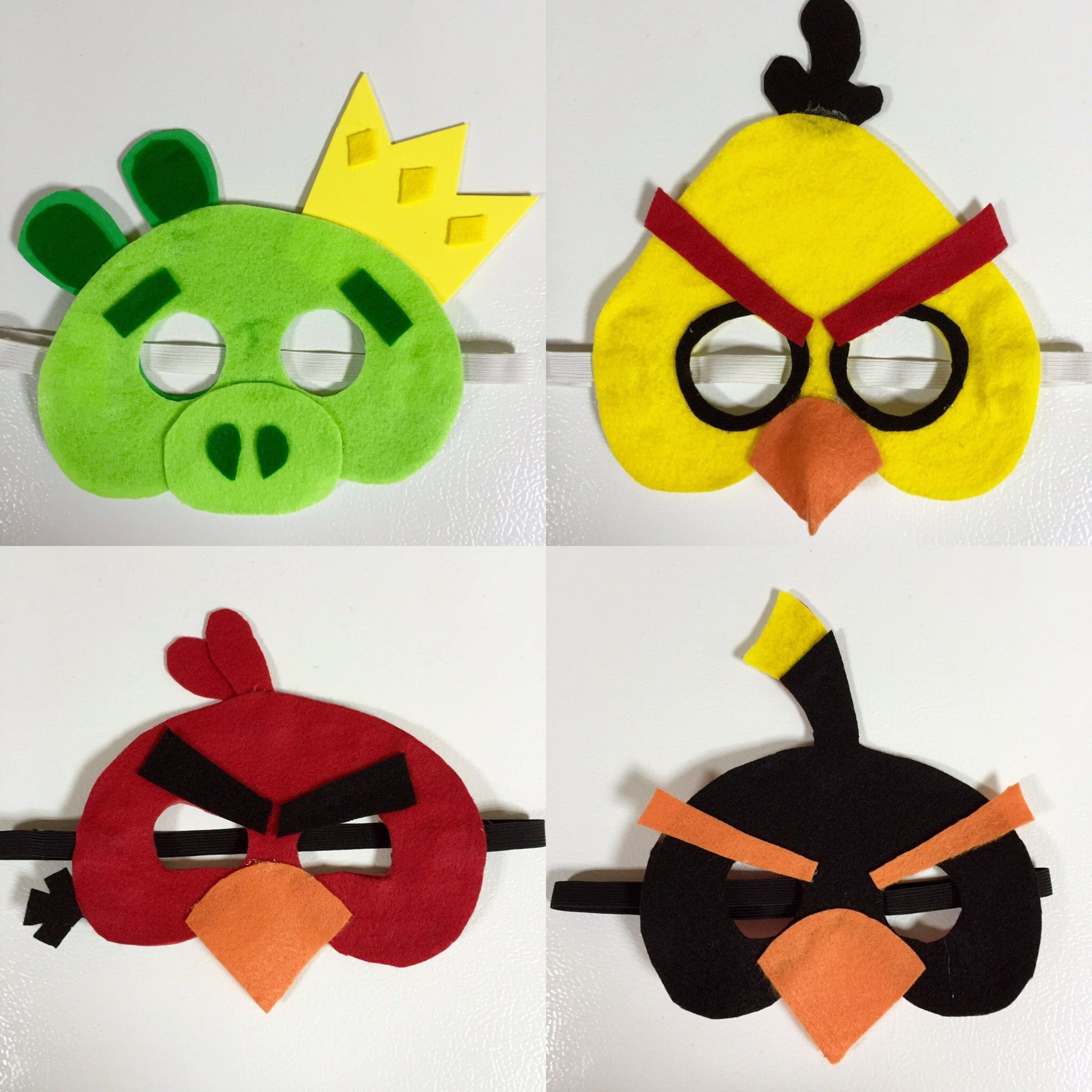 Angry Birds Masks! Really easy handmade masks. Cost less than $10 ...