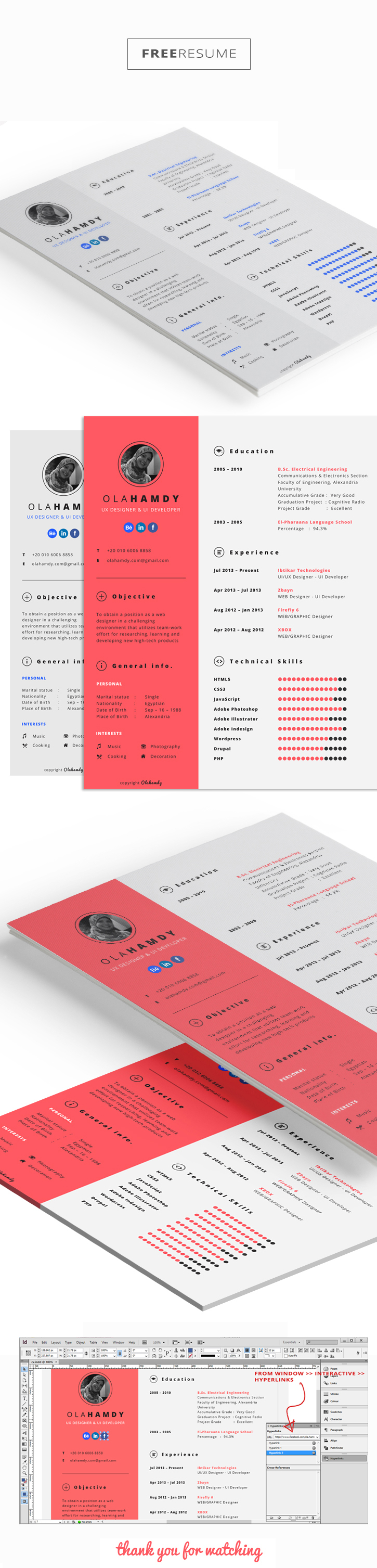 Free Indesign Resume