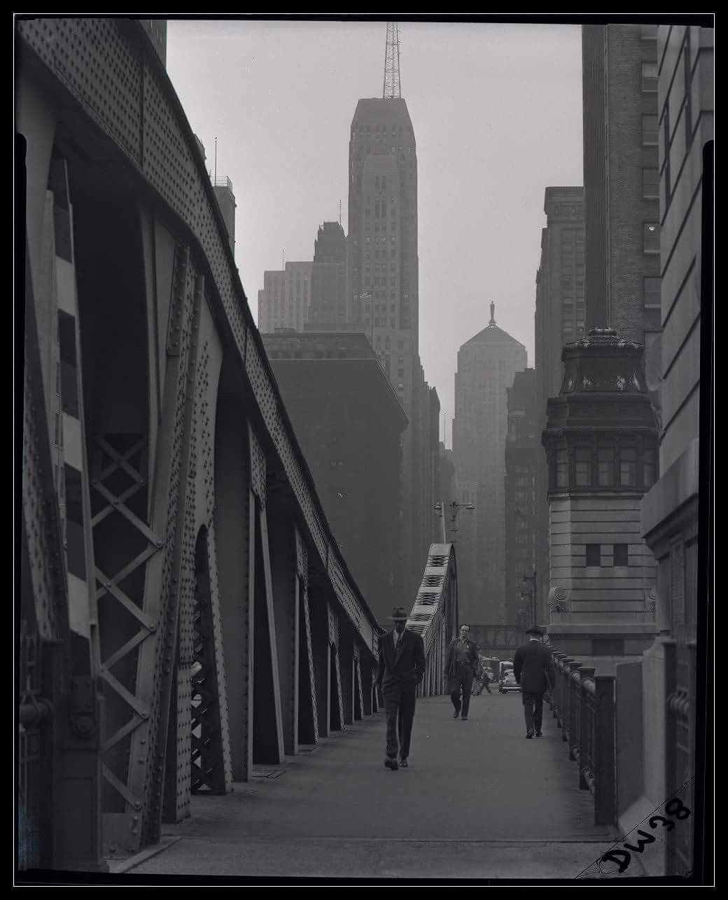 Chicago Nior Lasalle Street Bridge September 24 1957 Chicago History Chicago Chicago City