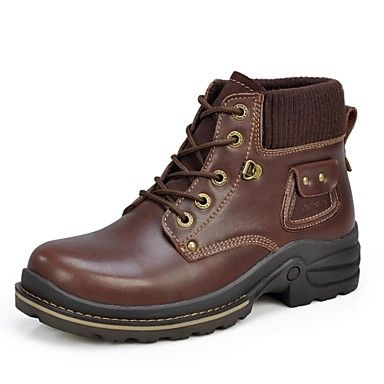 Men's Shoes Sunrolan Comfort Work & Safety  Flat Heel  Leather Boots More Colors Available – USD $ 49.99