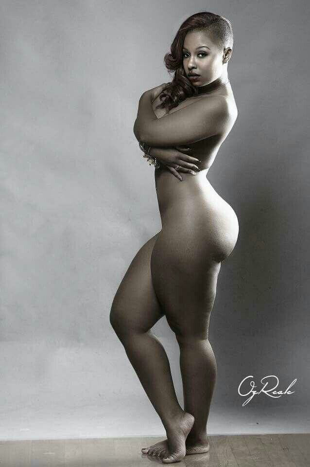 Plus size nude ebony