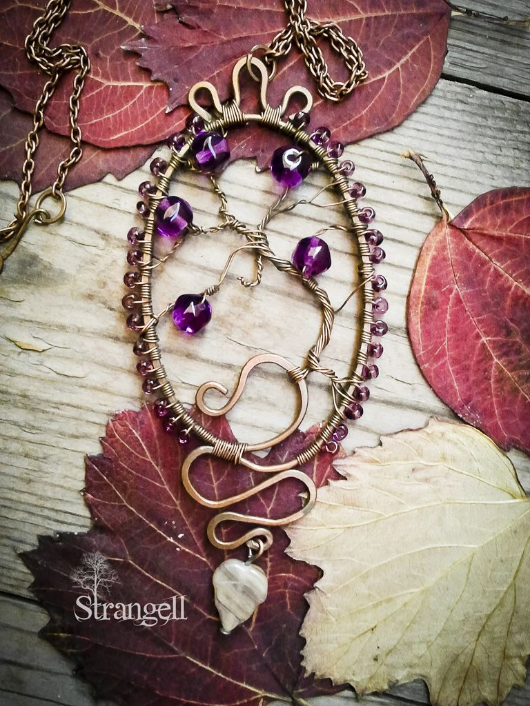 "Медный кулон ""Колдовское Древо"" Copper pendent ""Magic Tree""   Instagram: strangell.wire.art ~  Shop: www.strangell.livemaster.ru ~  Eatsy Shop: www.strangell.etsy.com ~  VK: vk.com/strangell"
