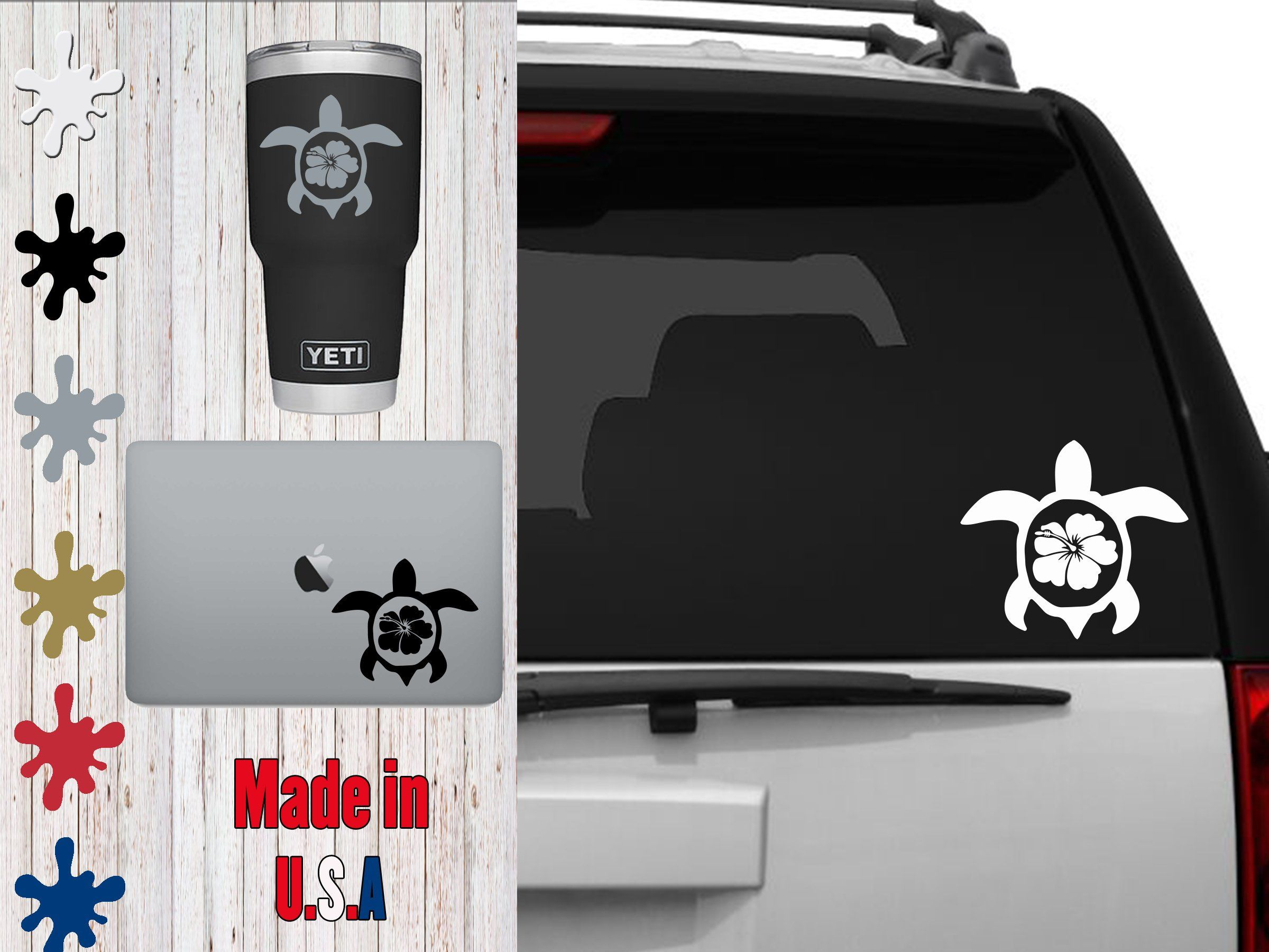 Hawaii Sea Turtle Decal Choose Your Size Car Decal Laptop Decal Mug Decal Tumbler Decal Cup Decal Phone Decal Sea Turtle Decal Phone Decals Cup Decal [ 1800 x 2400 Pixel ]