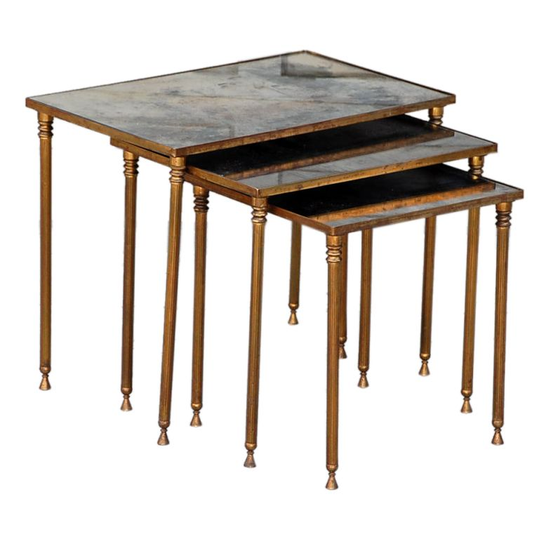 Amazon.com: Elegant Round Nest of Tables, Set of 2 Circle