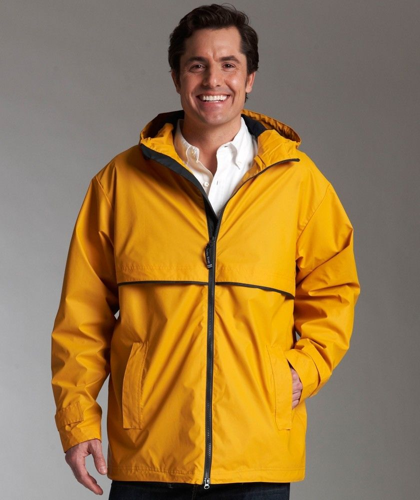 Charles River Men/'s New Englander Rain Jacket Hooded Windbreaker Coat 9199