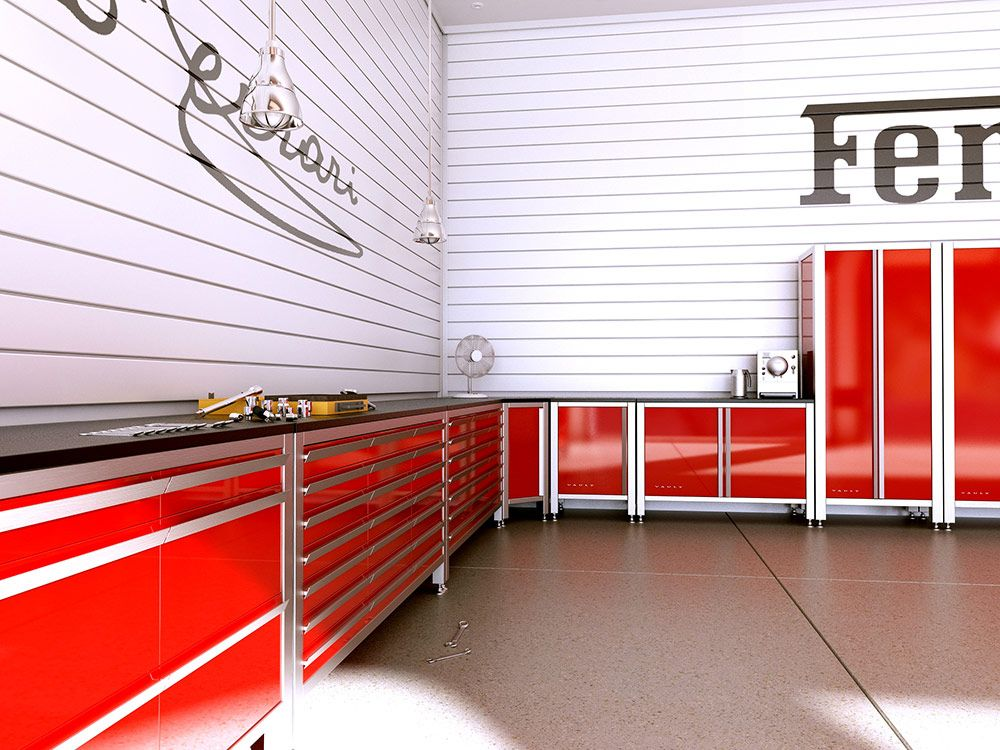 These Professional Series Metal Garage Cabinets Are Beautifully Detailed In  Automotive Quality Powder Coated Surfaces