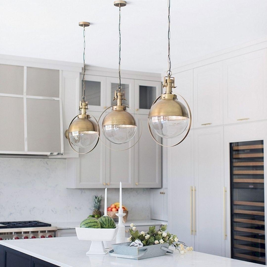 9+ Beautiful Kitchen Design With Pendant Light Ideas   Interior ...