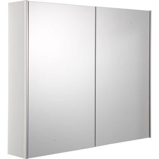 Armoire de toilette Opale Blanc, L80xH70xP15 cm 230 \u20ac agencement - Peindre Un Radiateur Electrique
