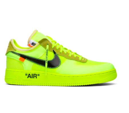 OFF WHITE x Air Force 1 Low 'Volt' | Air force, Nike, Air