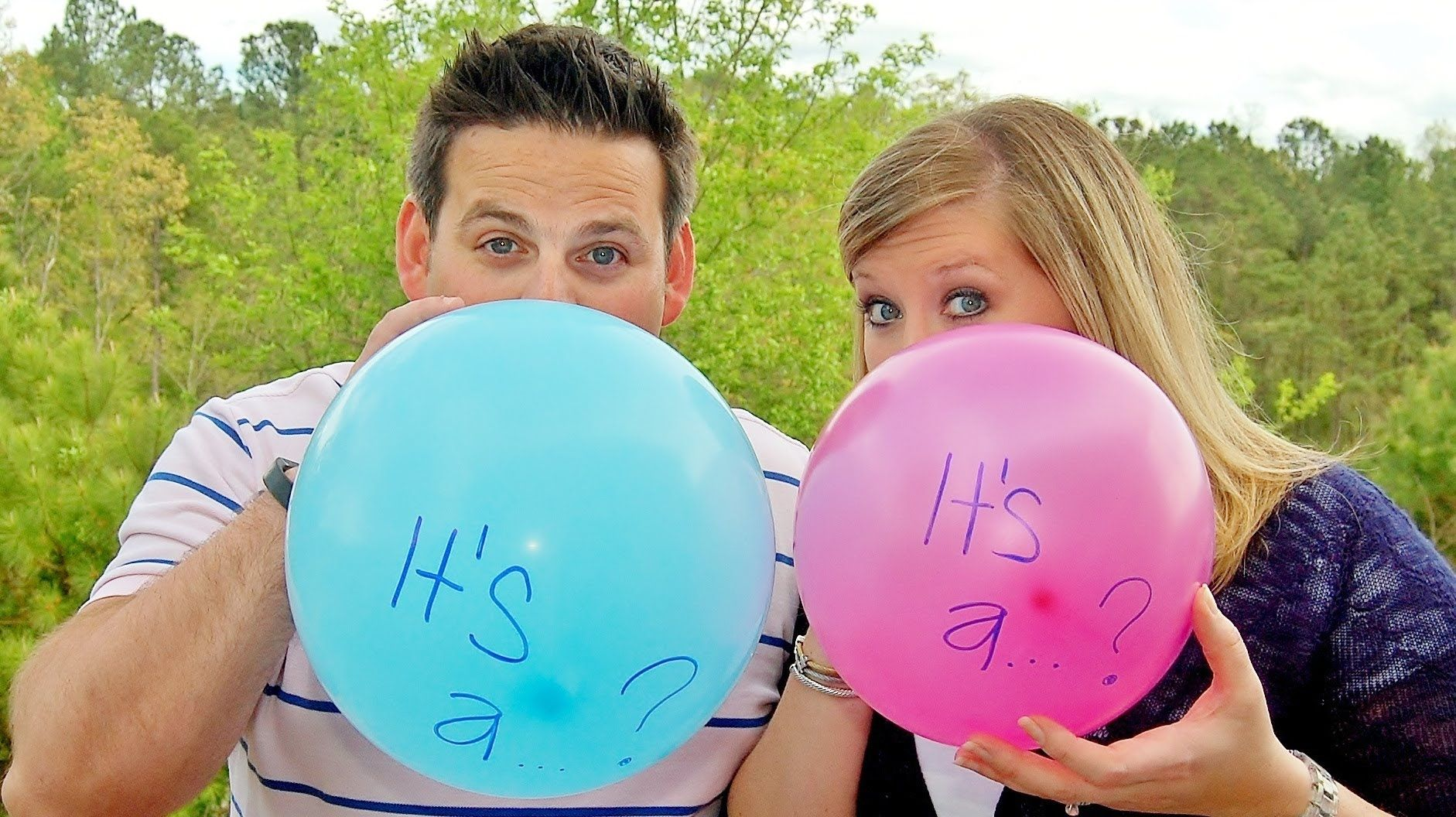 Awesome GENDER REVEAL idea Poke small pin holes in the color