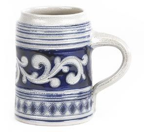 Westerwald Salt-Glazed Stoneware Tankard...at a mere $136 a tankard, we can afford to let the girls drink out of these at every meal.