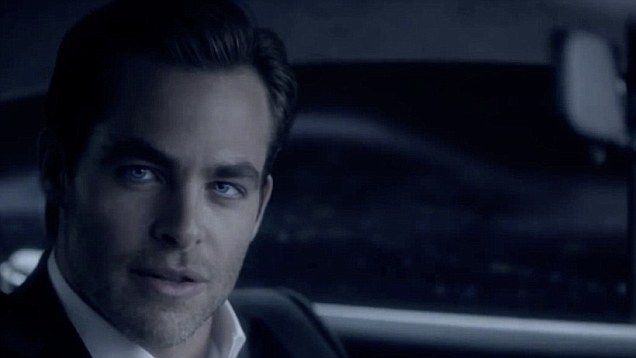 Star Trek star Chris Pine in his role as the new face of men's fragrance Armani Code.