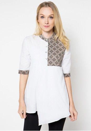 Batik Kombinasi Polos Untuk Wanita Blouse Batik 29e8f3b570